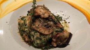 Lasaña de verduras asadas con bechamel de espinacas